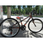 "CrossBike Велосипед CrossBike Pegas 24"" (2018) new (черно-оранжевый)"